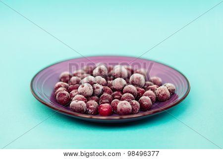 Cherry in the ceramic bowl