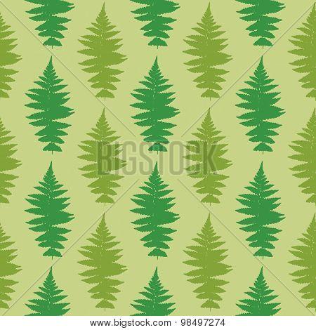 Vector illustration of dry fern seamless pattern