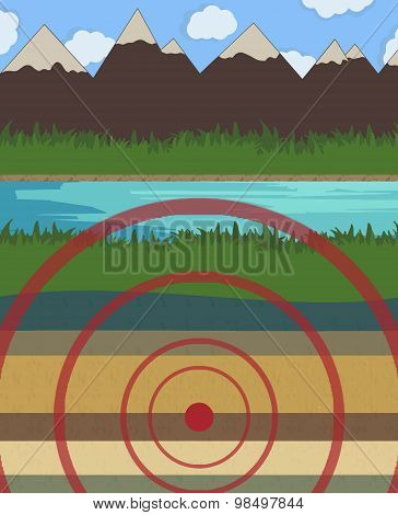 Earthquake Vector Illustration