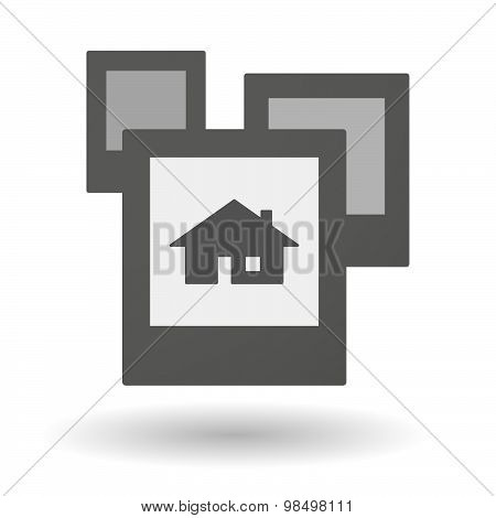Isolated Group Of Photos With A House