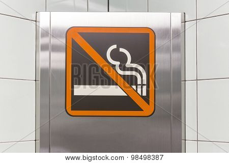 No Smoking Sign in Subway Station in Japan