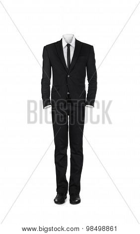 Blank Male Business Suit Isolated On White Background