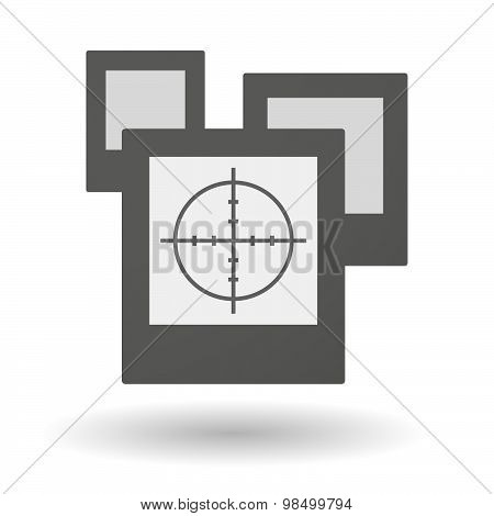 Isolated Group Of Photos With A Crosshair