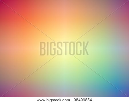 Rainbow Colored Blurred Background