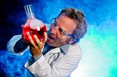 stock photo of mad scientist  - Mad scientist - JPG