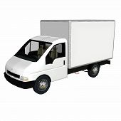 foto of delivery-truck  - white delivery  - JPG