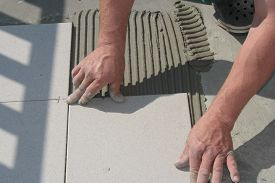 foto of grout  - On this picture is hands - JPG