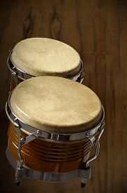 foto of bongo  - photography in musical percussion instrument studio called bongo - JPG