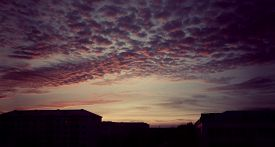 image of incredible  - Incredible cloud cover in the sky a small Northern town - JPG