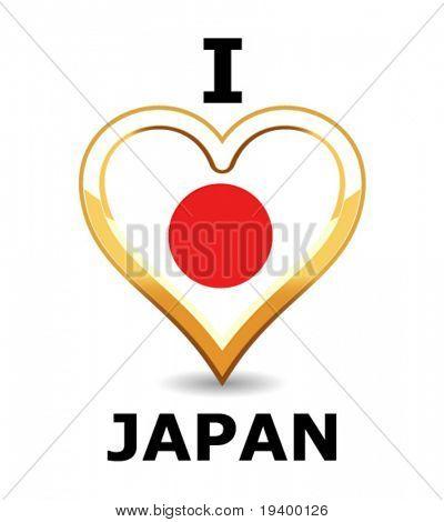 Bandera de Japón de corazón