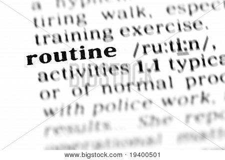 Routine (the Dictionary Project)