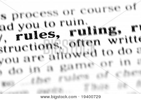 Rules(the Dictionary Project)