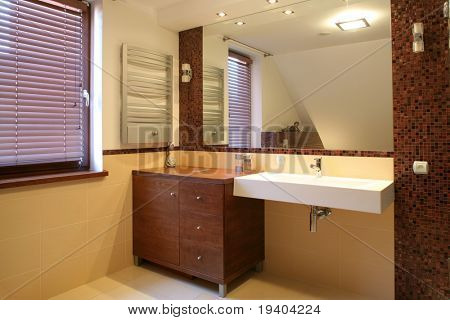 Details of luxurious bathroom in home