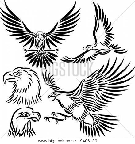 Abstract eagle, vector illustration