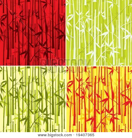 Bamboo pattern, seamless, vector illustration