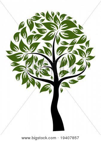Decorative tree, vector illustration