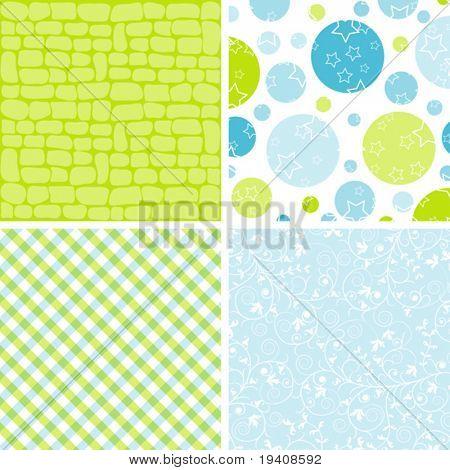 Scrapbook patterns for design, vector illustration