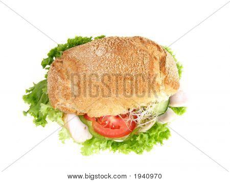 Hamburguesa de pavo con ensalada