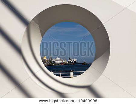 Dublin Harbor Through Circle