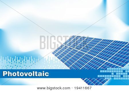 Solar power, renewable energy.  Brochure cover or Business card