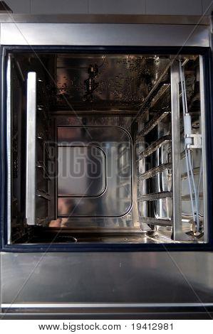 Combi oven detail, professional kitchen