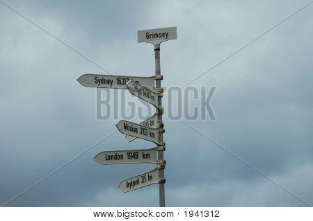 Placa de sinalização, Grimsey, Islândia