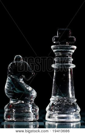 Strategic games; chess; king and knight on chess board
