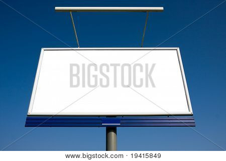 Empty billboard on blue sky ready for your advertisement