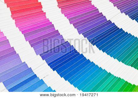 Open pantone color guide sample catalog