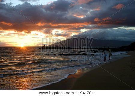 Sunset in Kihei, Hawaii