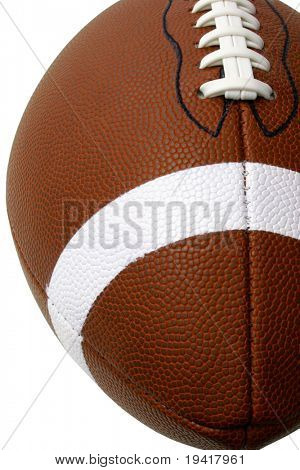 This is an extreme close-up of a football.