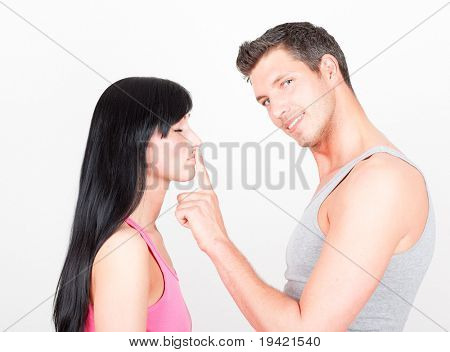Mouth closing couple to beware secrets