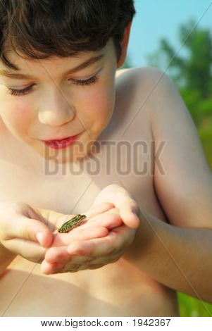 Boy With A Frog