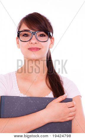 Portrait of eyewear young female girl