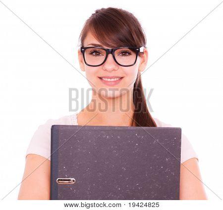 Porträt von Brillen junge Mädchen