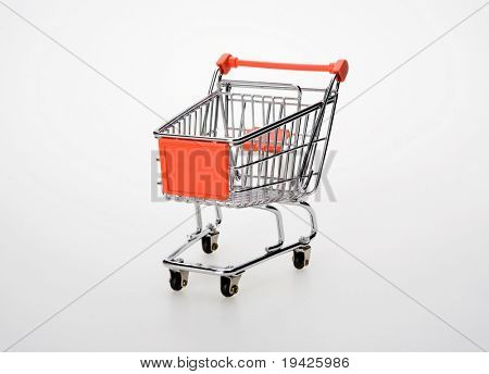 shopping cart on isolated background