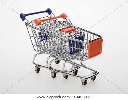 two shopping carts