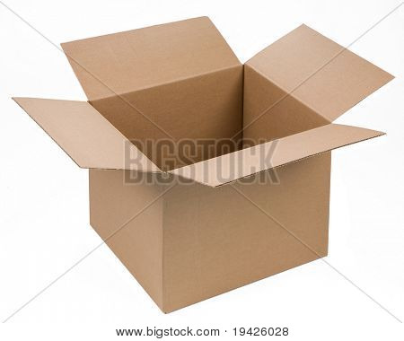 cardboard box isolated