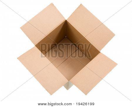 cardboard box top view