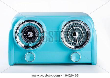 blue retro radio