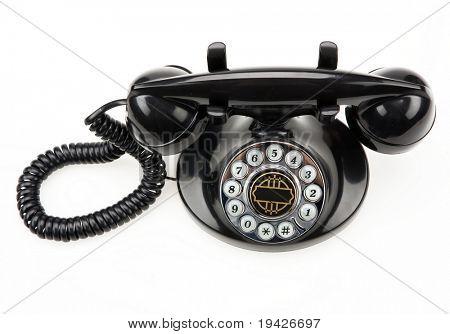 retro phone topview