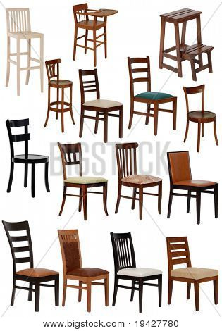 fünfzehn verschiedene Stuhl