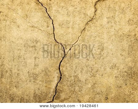 Old wall with crack