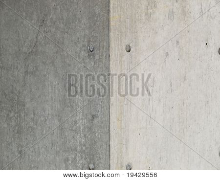 concrete corner in light and shadow