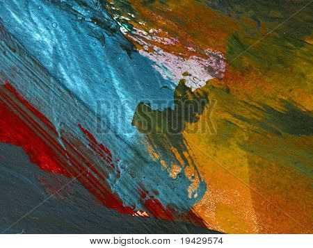 High magnification oil paint texture