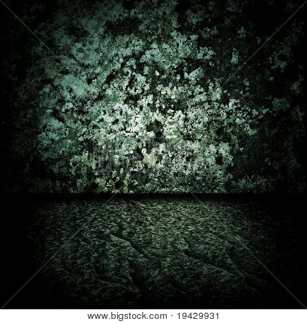Dark stone room