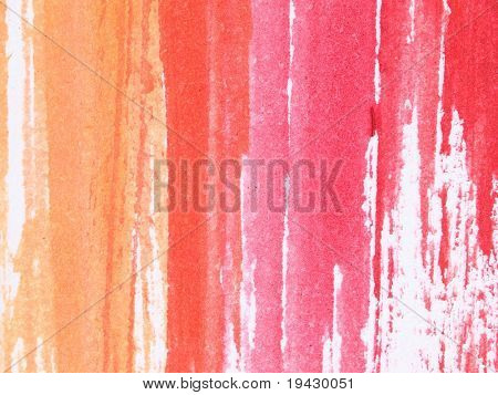red and orange water color brush strokes, high magnification