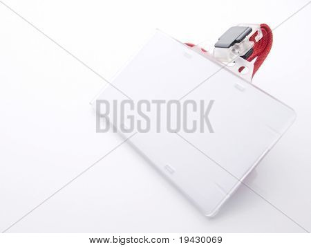 Blank security card isolated on white. For adding your message or corporate information of your choice.