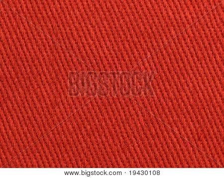 Roten Stoff hoher Vergrößerung Textur. Rote Baumwollgewebe.