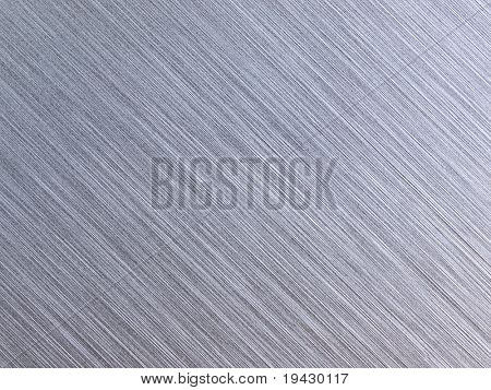 High resolution brushed metal. diagonal grain. Actual photo of brushed metal. Focus on entire surface.